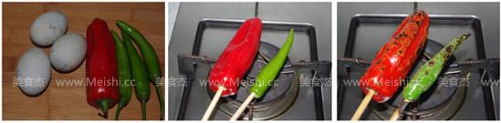 烧辣椒拌皮蛋的做法大全