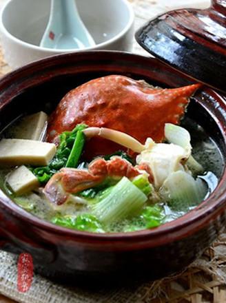 螃蟹白菜炖豆腐的做法