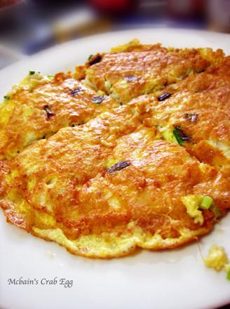 蟹肉攤雞蛋的做法