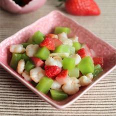 草莓莴笋丁炒虾球
