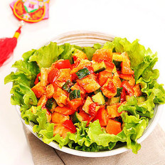 桃红柳绿拌沙拉