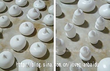 蛋白霜小蘑菇的做法图解