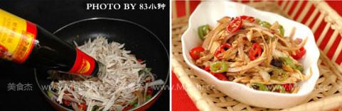 青红椒拌鸡丝的简单做法