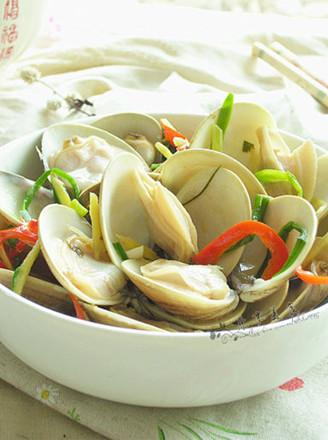 红椒炒蛤蜊的做法