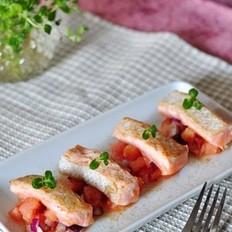 柠香三文鱼沙拉