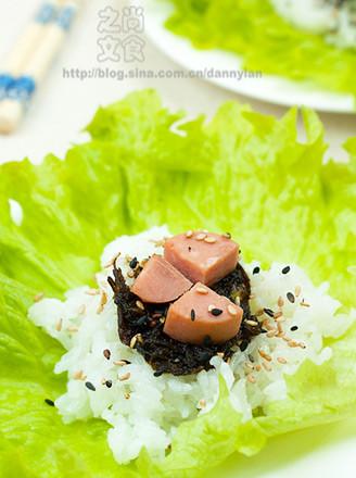橄欖火腿菜包飯的做法