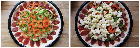 腊肠黑橄榄披萨怎么炒