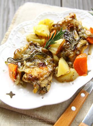 橄榄油迷迭香烤鸡排的做法