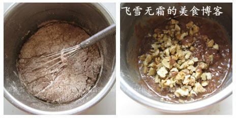 巧克力核桃纸杯蛋糕的简单做法