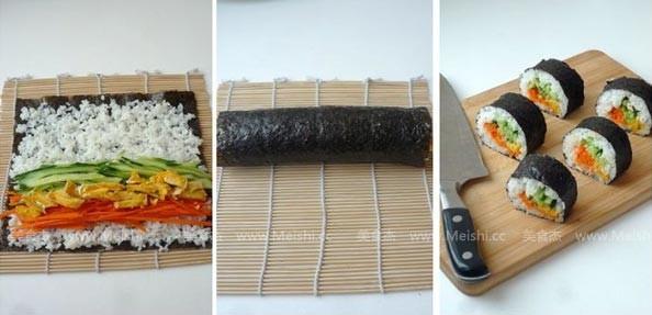 咸蛋黄寿司的做法图解