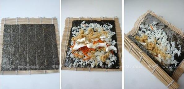 咸蛋黄寿司的家常做法