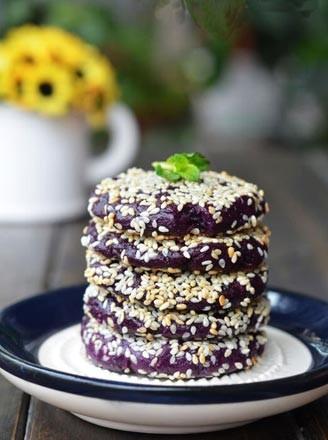 芝香紫薯餅的做法