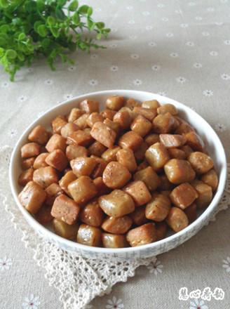 五香蛋酥棋子豆的做法