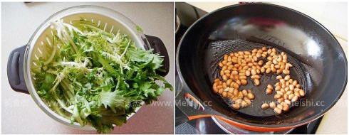 苦苣拌花生米的做法大全