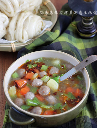 肉丸胡辣汤的做法