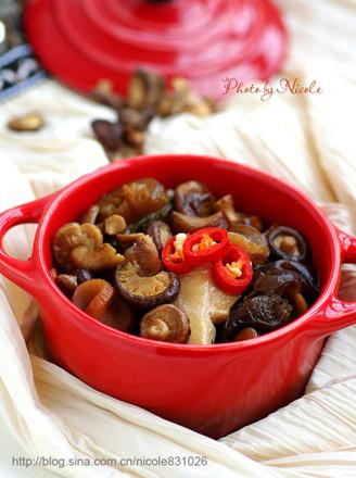 鲜美五福素斋煲的做法