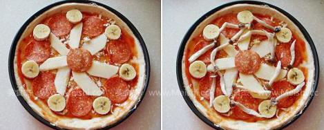 萨拉米鲜虾披萨的简单做法
