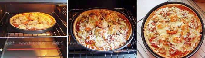 萨拉米鲜虾披萨怎么做