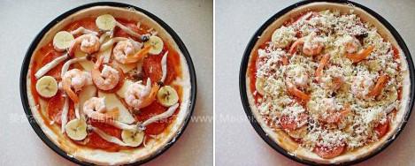 萨拉米鲜虾披萨怎么吃