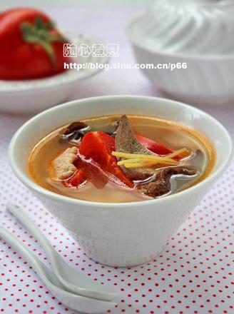 番茄猪肝汤的做法