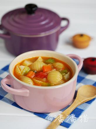 蔬菜意面浓汤的做法