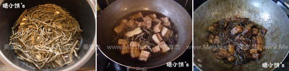 豇豆干烧肉的做法图解