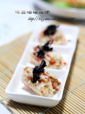 海苔培根飯團的做法