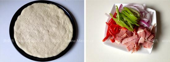 黑橄榄培根匹萨怎么吃