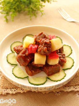 蘋果煎牛肉的做法