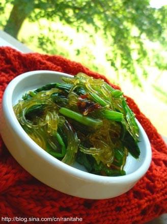 粉丝拌菠菜的做法