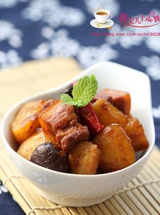 土豆香菇燒肉的做法