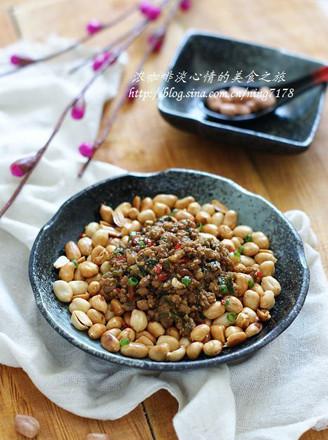 肉酱花生米的做法