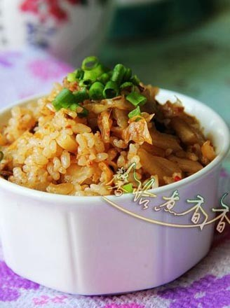 五花肉辣白菜炒飯的做法