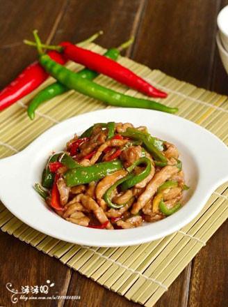 青椒炒肉絲的做法