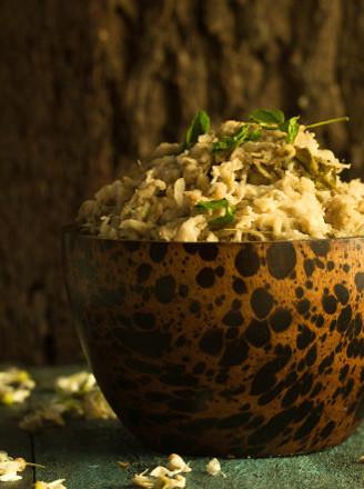 槐花麥飯的做法