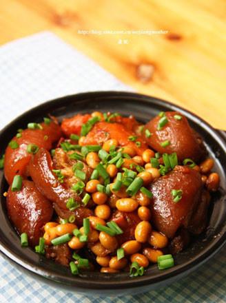 黃豆燜豬蹄的做法