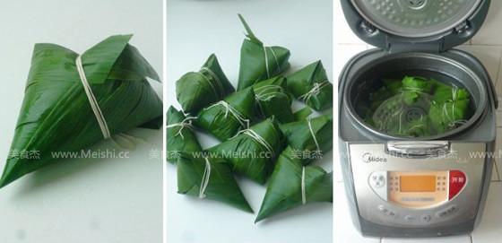 蜜枣红豆花生粽的家常做法