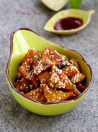 蜜汁叉燒豆腐角的做法