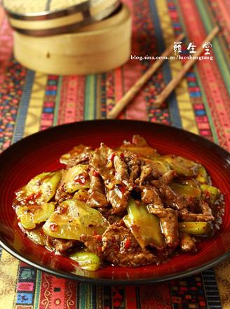 豉椒凉瓜牛肉的做法
