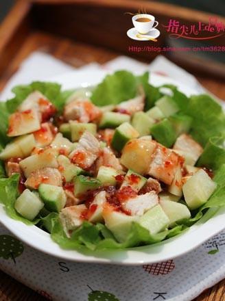 泰式鸡肉蜜桃沙拉的做法