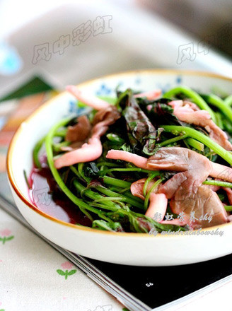 苋菜鲜蘑的做法