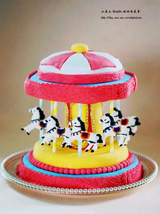 旋转木马翻糖蛋糕的做法