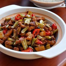 豆角土豆烩花肉