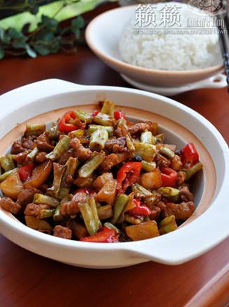 豆角土豆烩花肉的做法