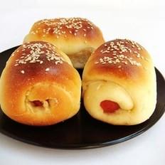 火腿肉松面包卷