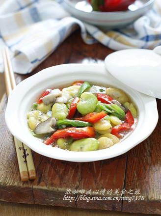 青紅燴蠶豆的做法