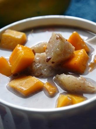 粽香豆沙芒果捞的做法