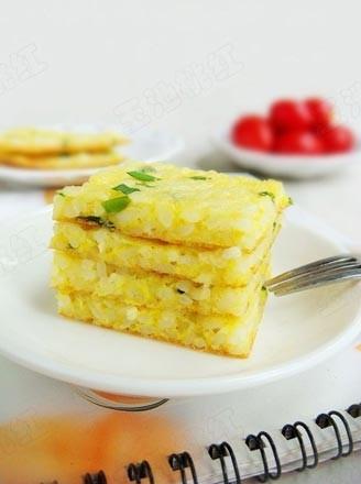 雞蛋米飯餅的做法