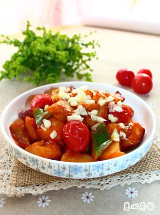西紅柿燒茄子的做法