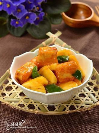 菠萝咕噜豆腐的做法